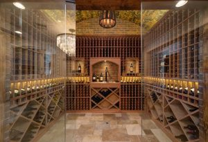 A wine cellar for your custom home is a great addition